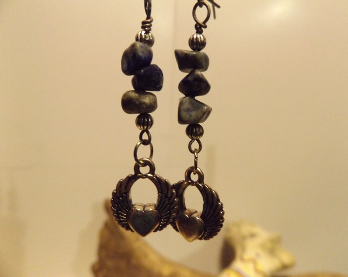 Lapis Lazuli Healing Earrings, Healing Crystal and Gemstone Jewelry, Healing Jewelry, Healing Crystal and Stones, Healing Gift