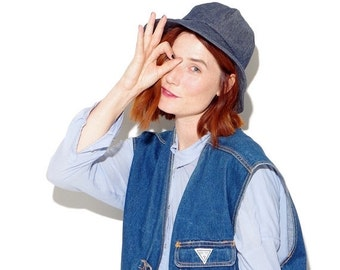 HALF OFF one day ONLY 90s Denim Bucket Hat 90s clothing 90s grunge