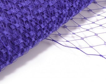 Veil Fabric, Veiling for Hats and Birdcage Veils Purple - Wholesale Available