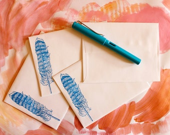 extra envelopes set of four in your choice of designs to match my letter sets