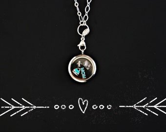Mini photo portrait charm for floating in your glass lockets