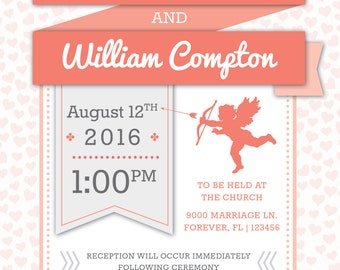 Modern Wedding Invitation - DIGITAL FILE