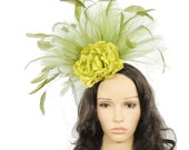 Irina - Olive Green Fascinator Hat for Weddings, Occasions and Parties