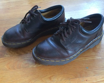 Doc Martens Brown Leather Lace Up Low work shoe size 8