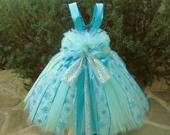 ICE QUEEN AQUA.  Tutu Dress.  Party Dress.  Winter Theme Dress.  Ice Queen Tutu Dress.  Photo Shoots.  Birthday Tutu Dress. Girl Tutu Dress.