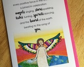 Greeting Card : Angel of Celebration