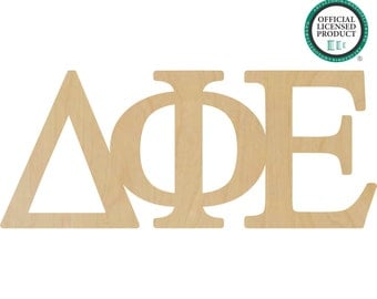 delta phi epsilon greek letters connected delta phi letters delta greek letters phi greek letters wooden greek letters a11050621
