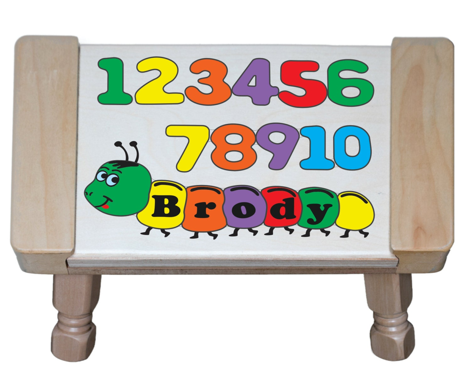 Personalized Name Number Theme Wooden Primary Puzzle Step