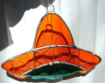 Sombrero Mexican Suncatcher Day of the Dead El Dia de los Muertos Stained Glass Spanish Fiesta Cinco de Mayo Original Design©