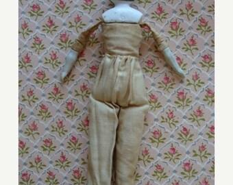 BIG SALE Antique German Rare Porcelain Bisque Cloth/Sawdust Doll
