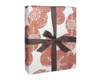 Holiday Gift Wrap Bulk - Christmas Wrapping Paper Snowflakes Red Sheets