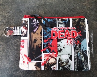 Walking Dead Zippered Coin Pouch / Cell Phone / Wallet / Make-Up Pouch / Organizer / Sanitary Pad Storage