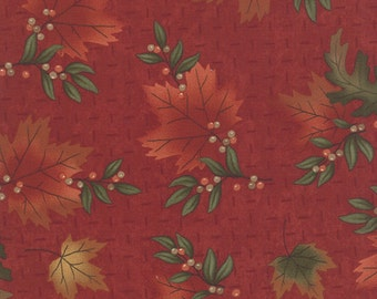 Red Maple Island Fabric - Holly Taylor - Moda - 6611 11