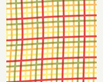 Yellow Plaid Bungle Jungle Fabric - 1/2 yd - Moda - Tim and Beck