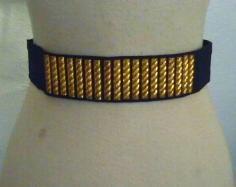 Cool Late 40s Early 50s Rayon Belt w/Studs