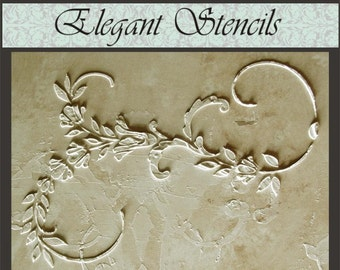Raised Plaster Stencil Dresden Relief, Wall Stencil Painting Stencil, Furniture Stencil