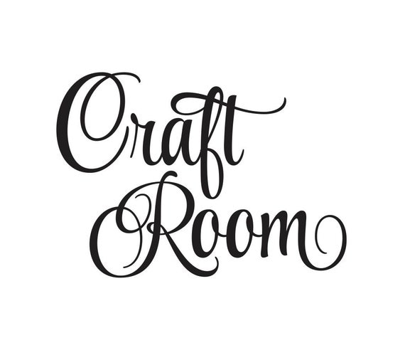 Craft room vinyl wall decal door decal vinyl by for Quality craft vinyl plank reviews