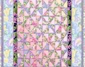 ACEO Orig  Digital Painting Pinwheel Quilt