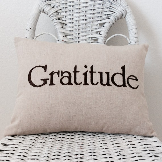 Gratitude Pillow Rustic Inspirational Pillow INSERT INCLUDED.