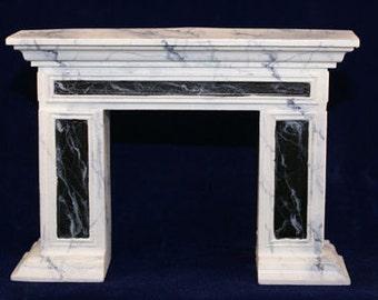 1:12 Scale Fireplace Mantel - Colonial Panel Mantel (C2)