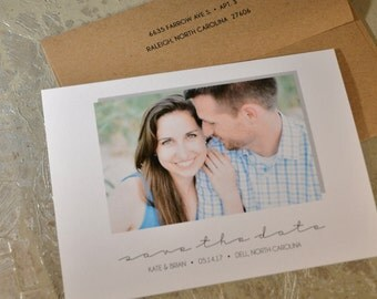 Custom Photo Save The Date Flat Cards with Envelopes