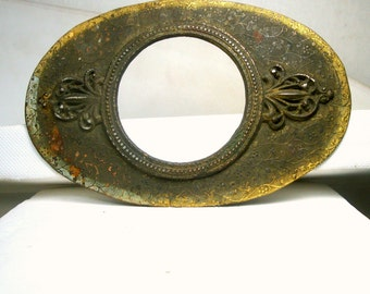 Unknown, Maybe Sword Hilt Pendant, or a Big OVAL Mans Medallion , 1950s Brass