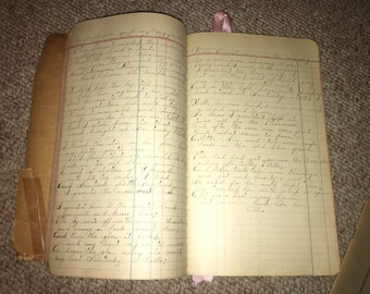 Vintage Ledger Full of Poetry