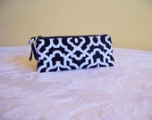 PEN & PENCIL Pouch Small zippered pouch perfect to hold all of your writing and Journaling tools. Classic Black and White