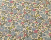 liberty of london - half a metre - betsy ann - special edition - blue, pink, green and purple