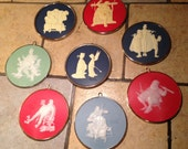 Set of Eight Norman Rockwell Ornaments by Hallmark