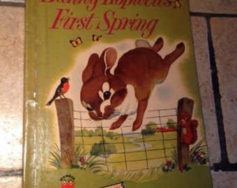 1954 Bunny Hopwell's First Spring Children's Wonder Book