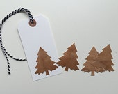 holiday wood stickers, set of 6