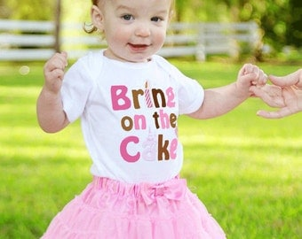 Girls First Birthday Romper by Mumsy Goose Cake Smash Shirt 1st Birthday Creeper