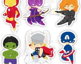 Avengers Vinyl Stickers