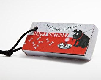 Happy birthday flip book - hand drawn