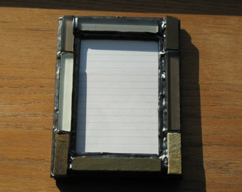Stone & Glass Tile Picture Frame in Gray (holds a 4 x 6 photograph)