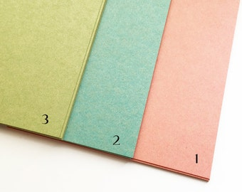 color textured paper | color paper card | vintage style paper stock | A5 paper sheet | 148mmX210mm | 0.22mm thick | set of 10