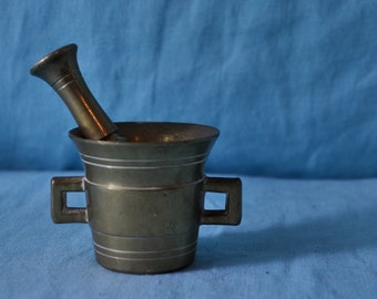 Vintage Pharmaceutical Brass Mortar and Pestle/Small Pill Grinding Size