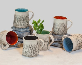 8 handmade mug set large coffee mug set handmade tea cup set stoneware - Coffee Mug Sets