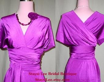 Hibiscus Purple Infinity Convertible Dress ... 37 Colors... Purple Dress,  Wedding Dress, Bohemian Dress,  Maternity Dress