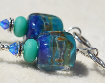 FUSION-Handmade Lampwork and Sterling Silver Earrings