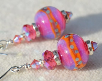 FANCY THAT-Handmade Lampwork and Sterling Silver Earrings