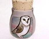 Purple Barn Owl Stash Jar
