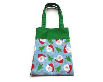 Fabric Christmas Gift/Goodie Bag - Santa Claus
