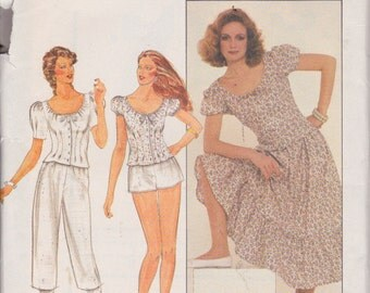 Butterick 4356 Misses'/ Misses' Petite Top, Skirt, Pants and Shorts Size 12 Victorian Style Vintage UNCUT Pattern