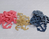 250 nautical anchor confetti table scatter die cuts coral navy gold glitter wedding bridal shower baby shower decor