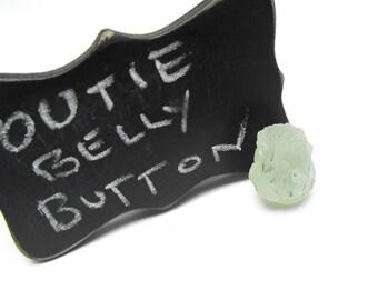 PREHNITE CRYSTAL w epidote inclusions 00344c genuine precious gemstone bead natural green free form orb nodule unusual pendant stone