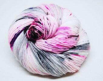 """Hardcore Sock Yarn - """"Scene Girl"""" - Handpainted Superwash Merino - 463 Yards"""