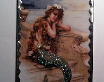 Soldered Glass Mermaid Ornament