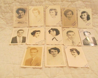 13 1950's Senior high school photo's SALE